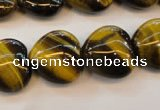 CTE632 15.5 inches 20*20mm heart yellow tiger eye beads wholesale
