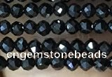 CTG1011 15.5 inches 2mm faceted round tiny black spinel beads