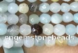 CTG1051 15.5 inches 2mm faceted round tiny amazonite beads