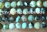 CTG1057 15.5 inches 2mm faceted round tiny African turquoise beads
