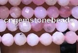 CTG1135 15.5 inches 3mm faceted round tiny pink opal beads