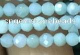 CTG1165 15.5 inches 3mm faceted round tiny amazonite beads