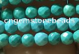 CTG1176 15.5 inches 3mm faceted round tiny turquoise beads