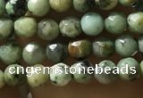 CTG1178 15.5 inches 3mm faceted round tiny African turquoise beads