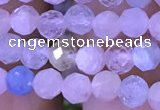 CTG1206 15.5 inches 4mm faceted round tiny morganite beads