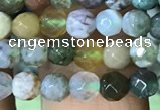 CTG1210 15.5 inches 4mm faceted round tiny Indian agate beads