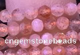 CTG1318 15.5 inches 3mm faceted round golden sunstone beads