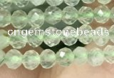 CTG1347 15.5 inches 3mm faceted round prehnite beads wholesale