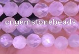 CTG1352 15.5 inches 4mm faceted round white moonstone beads