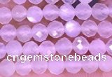 CTG1353 15.5 inches 4mm faceted round white moonstone beads