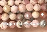 CTG1358 15.5 inches 4mm faceted round rhodochrosite beads