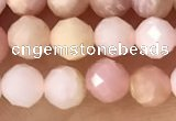 CTG1365 15.5 inches 5mm faceted round pink opal gemstone beads