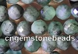 CTG1389 15.5 inches 4mm faceted round tiny emerald beads