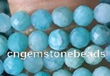 CTG1392 15.5 inches 3mm faceted round tiny amazonite beads