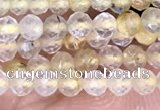 CTG1405 15.5 inches 2mm faceted round golden rutilated quartz beads