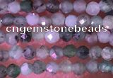 CTG1426 15.5 inches 2mm faceted round emerald gemstone beads