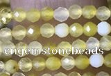 CTG1464 15.5 inches 2mm faceted round yellow opal beads