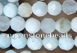 CTG1555 15.5 inches 4mm faceted round Chinese larimar beads