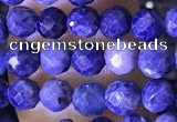 CTG1556 15.5 inches 4mm faceted round sapphire gemstone beads