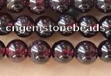 CTG1597 15.5 inches 4mm round red garnet beads wholesale
