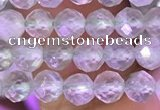 CTG1607 15.5 inches 4mm faceted round tiny prehnite beads