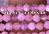 CTG1645 15.5 inches 3mm faceted round tiny moonstone beads