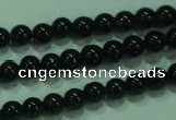 CTG19 15.5 inches 3mm round B grade tiny black agate beads