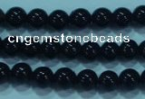 CTG20 15.5 inches 4mm round B grade tiny black agate beads