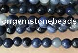 CTG2027 15 inches 2mm,3mm natural blue dumortierite beads