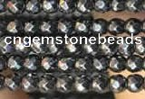 CTG2125 15 inches 2mm,3mm & 4mm faceted round hematite gemstone beads