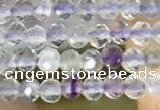 CTG2128 15 inches 2mm,3mm faceted round fluorite gemstone beads