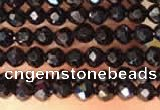CTG2144 15 inches 2mm,3mm faceted round black spinel beads