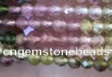 CTG2240 15 inches 2mm faceted round natural tourmaline beads