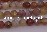 CTG514 15.5 inches 4mm faceted round tiny botswana agate beads