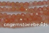 CTG610 15.5 inches 3mm faceted round golden sunstone beads