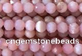 CTG733 15.5 inches 3mm faceted round tiny pink opal beads