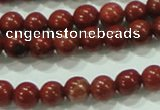 CTG75 15.5 inches 3mm round tiny red brick beads wholesale