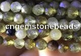 CTG818 15.5 inches 3mm faceted round tiny green garnet beads