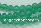 CTG83 15.5 inches 3mm round grade AA tiny green agate beads wholesale