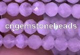 CTG833 15.5 inches 5mm faceted round tiny white moonstone beads