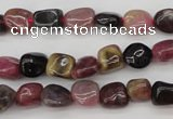CTO381 15.5 inches 7*9mm natural tourmaline nuggets beads