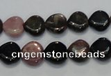 CTO41 15.5 inches 12*12mm heart natural tourmaline beads wholesale