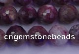 CTO614 15.5 inches 9mm faceted round tourmaline gemstone beads