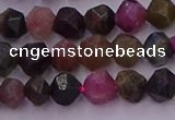 CTO650 15.5 inches 6mm faceted nuggets tourmaline gemstone beads