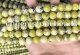 CTP223 15.5 inches 10mm round yellow turquoise beads wholesale