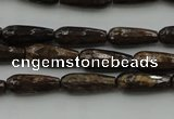 CTR05 15.5 inches 6*16mm faceted teardrop bronzite gemstone beads