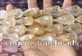 CTR351 15.5 inches 15*25mm faceted teardrop citrine beads