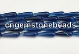 CTR428 15.5 inches 10*30mm teardrop agate beads wholesale