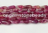 CTR440 15.5 inches 8*20mm faceted teardrop agate beads wholesale