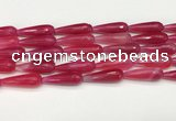 CTR455 15.5 inches 10*30mm faceted teardrop agate beads wholesale
